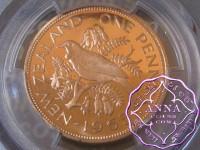 NZ 1965 Proofflike Penny PCGS PL65RD