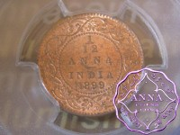British India 1899 1/12 Anna PCGS MS64RD