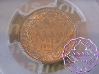 British India 1904 1/12 Anna PCGS MS64RD