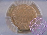 British India 1933 1/12 Anna PCGS MS63RB