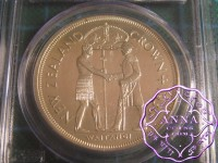 New Zealand 1935 Proof  Waitangi Crown PCGS PR63