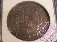 Spain 1728 SP Philip V 8 Reales NGC MS62