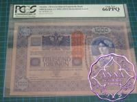 Austria 1919 Oesterreichisch-Ungarische Bank 1000 Kronen 2.1.1902 Pick 59 PCGS 66