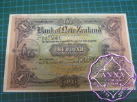 New Zealand 1921 Unissued Specimen Pound UNC