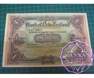 New Zealand 1921 Unissued Specimen Pound UNC
