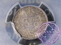 British Guiana 1901 Four Pence PCGS AU55