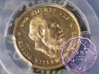 Netherlands 1877 Willem III Gold 10 Gulden PCGS MS64