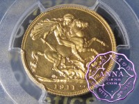 Great Britain 1911 George V Gold Proof Sovereign PCGS PR65