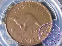 Australia 1952 A Penny PCGS MS63BN