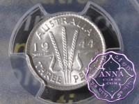 Australia 1944 S Threepence PCGS MS64