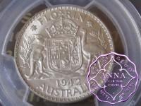 Australia 1942 Florin PCGS MS62