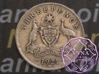 Australia 1921 M Threepence, Average Circulated Condition