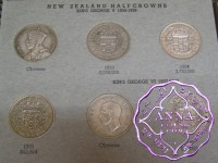 New Zealand Half Crown & Crown Set, 26 Coins