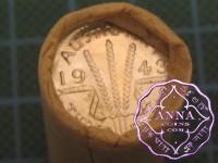 1943 D Threepence Mint Roll