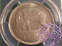 Belgian Congo 1944 Leopold III 50 Francs PCGS MS63