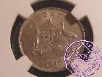 Australia 1910 Sixpence NGC MS63