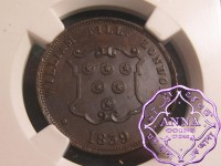 Great Britain 1839 William Till London 1/2P Token NGC MS62BN