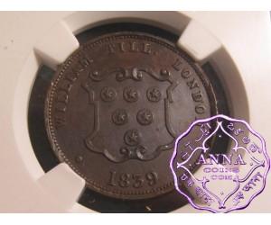 Great Britain 1839 William Till London 1/2P Token NGC MS62BN