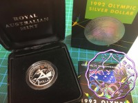Australia 1992 $1 silver proof Coin w/box & COA