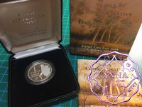 Australia 1995 $1 silver proof Coin w/box & COA