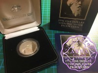Australia 1996 $1 silver proof Coin w/box & COA
