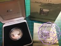 Australia 1999 $1 silver proof Coin w/box & COA