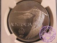 Australia 1967 Goose Dollar NGC MS64