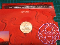 Australia 1992 State Series $10 Silver UNC Coin in Card