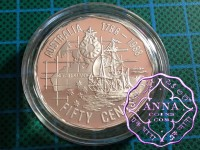 Australia 1989 Proof Silver 50C Type B