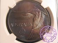 Australia 1967 Goose Dollar NGC MS63