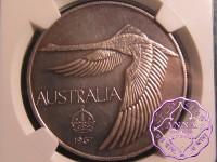 Australia 1967 Goose Dollar NGC MS62 Cameo