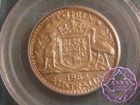 Australia 1962 Silver Proof Set (4 Coins) PCGS PR63-64