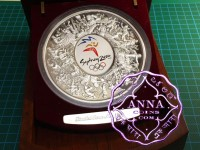 Australia 2000  Sydney Olympic 1KG Silver Proof Coin Wooden display Case certificate