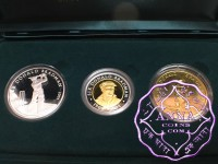 Australia 2001 Bradman Silver & Gold 3 Coin Proof Set