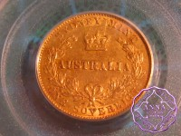 Australia 1866 Sydney Mint Gold Sovereign,PCGS AU53