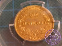 Australia 1870 Sydney Mint Gold Sovereign, PCGS AU50
