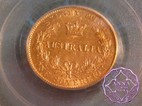 Australia 1870 Sydney Mint Gold Sovereign PCGS AU53