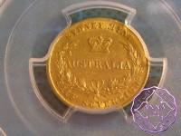 Australia 1858 Victoria gold 1/2 Sovereign Sydney Mint PCGS AU55