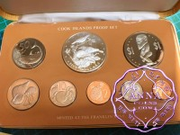Cook Islands 1978 Proof Set With COA