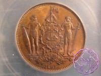 British North Borneo 1891 H Cent ICG MS63RB