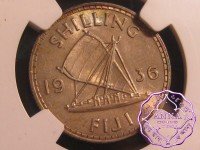 Fiji 1936 Shilling NGC MS64