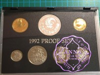 NZ 1992 Proof Set With COA 7 Coins