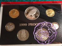 NZ 1999 Proof Set With COA 7 Coins
