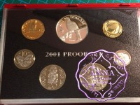 NZ 2001 Proof Set With COA 7 Coins