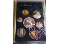 NZ 2005 Proof Set With COA 7 Coins
