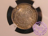 Hong Kong 1904 Edward VII 10 Cents NGC MS64