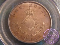 Mombasa 1888 H British Colony Specimen Rupee PCGS SP66