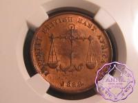 Monbasa 1888 C/M Pice NGC MS64RB