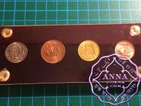 Colombia 1954 - 1960 1,2,5,10 centavos Set CUNC