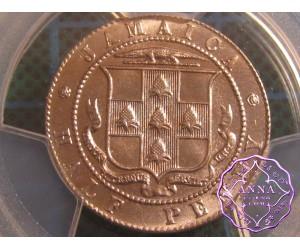 Jamaica 1928 George V 1/2D PCGS MS65